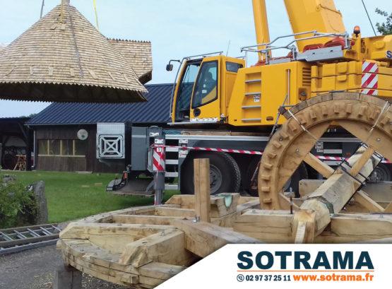 Engin chantier levage manutention moulin travaux publics transport