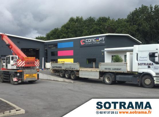 Camion stockage transport entrepôt imprimerie