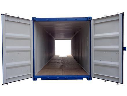 Le container double-door possède une porte double battant à chaque extrémité