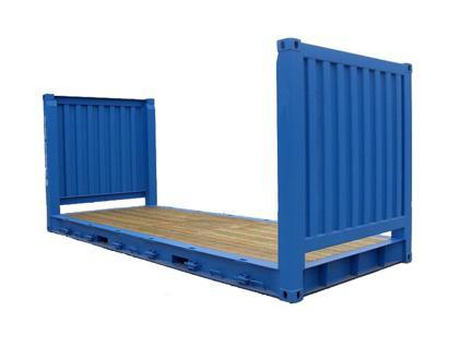 Le container flat rack sert autransport de marchandises volumineuses, lourdes ou hors gabarit