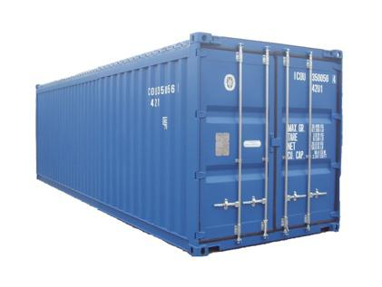 Le container open top est dépourvu de toit rigide