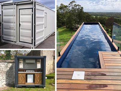 Container aménagé transformé maison piscine abri jardin habitation location vente Bretagne