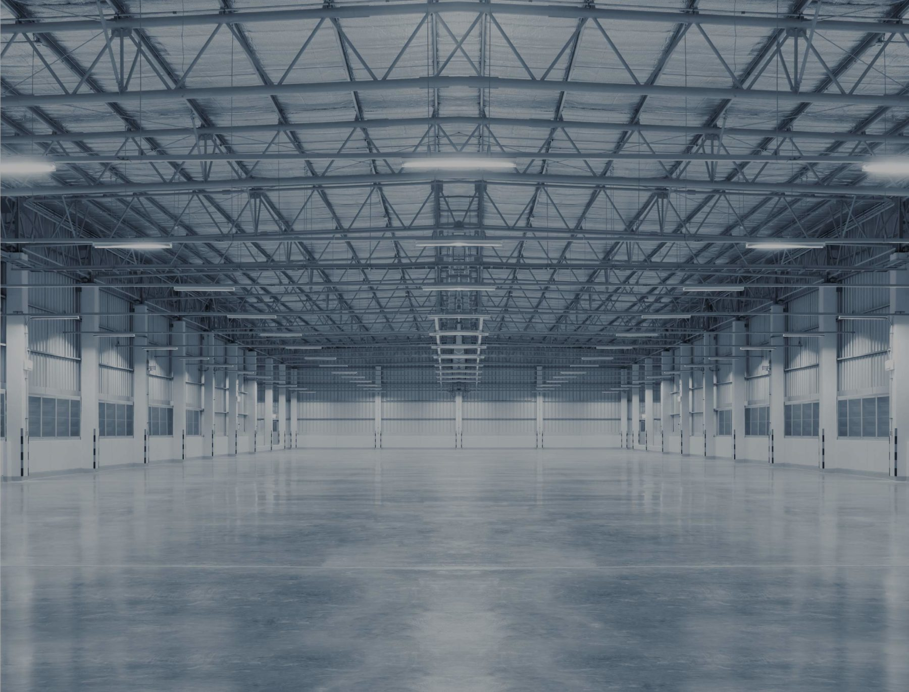 Immobilier industriel intérieur usine stockage entrepôt marchandises