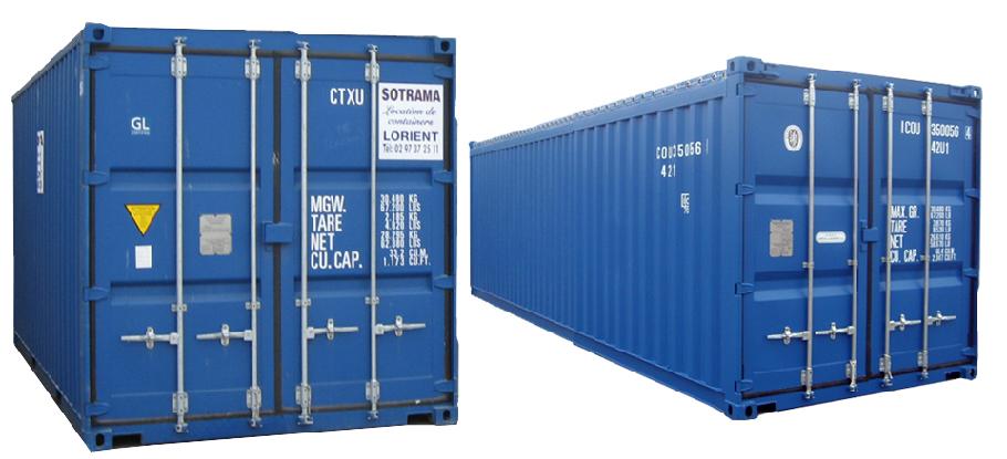 Le container maritime dry est le modèle le plus courant