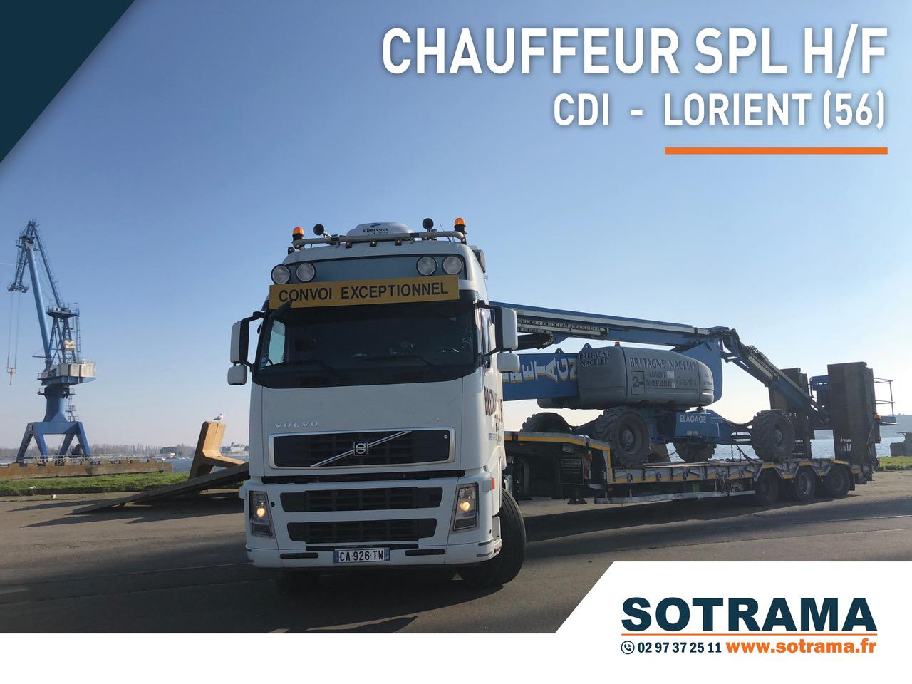 Offre emploi CDD CDI lorient chauffeur poids lourd recrutement embauche contrat Lorient