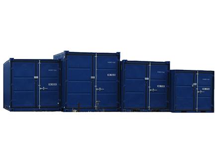 Le container d'entreposage est idéal pour le stockage dans un espace réduit