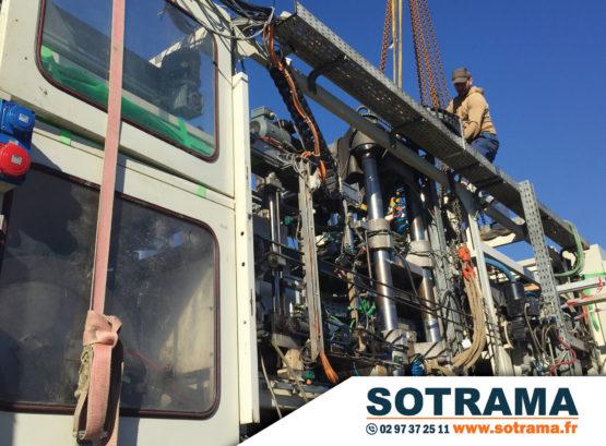 Déménagement industriel enlèvement thermoformeuse chantier travaux publics