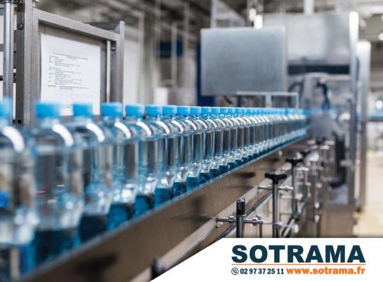 Ligne production bouteille eau usine chaîne industrie immobilier déménagement outils production