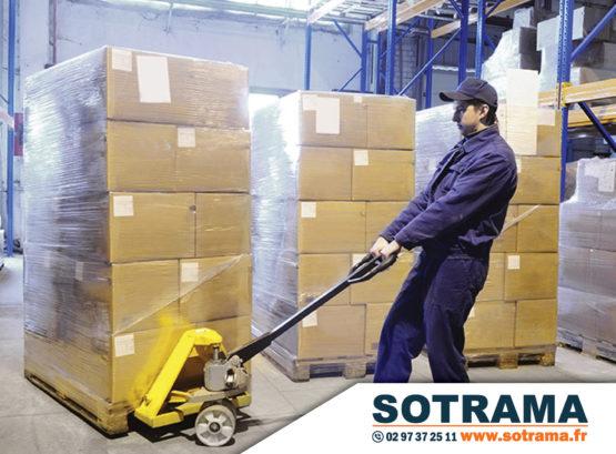 Transpalette marchandises stockages cartons CACES formation professionnelle