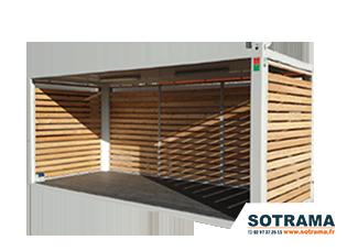 Container terrasse louer acheter, jardin, abri, container maison. Sotrama, location matériel Bretagne Lorient.