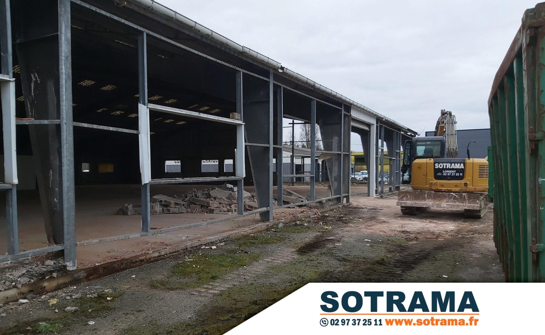 Démolition SOTRAMA Lanester Lorient Kerpont matériaux industrie entrepôt