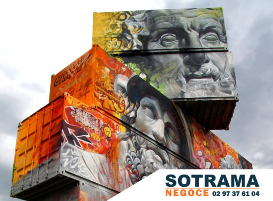 Street art container bungalow art graff tag location vente stockage