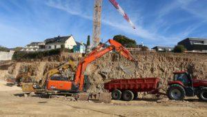 Déblai travaux terrassement chantier