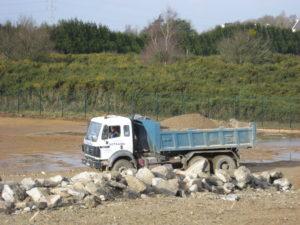 Evacuation des terres chantier