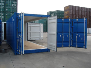 container maritime open side stockage