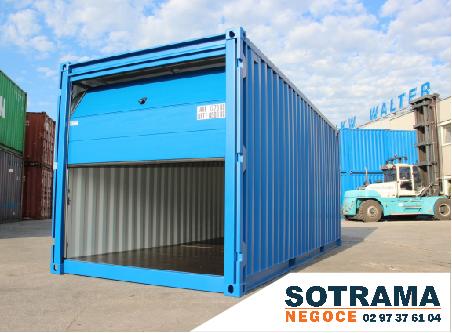 container garage stockage entreposage container transformé