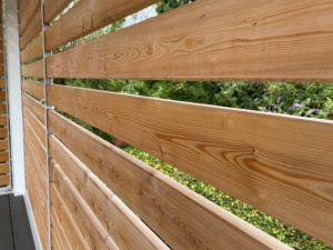 Container terrasse panneaux en bois acier bretagne france