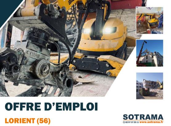 Chef d'équipe démolition intérieure lorient bretagne morbihan TP travaux publics